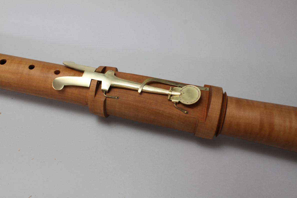 Renaissance recorder key